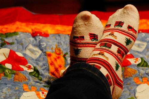 "7. ""Bright"" Christmas Socks by courtneyec90"