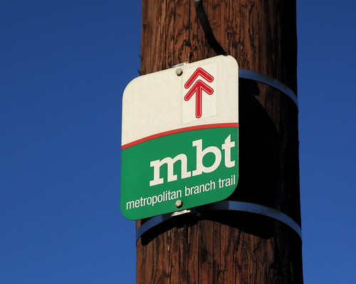 Metropolitan Branch On-road Trail Sign