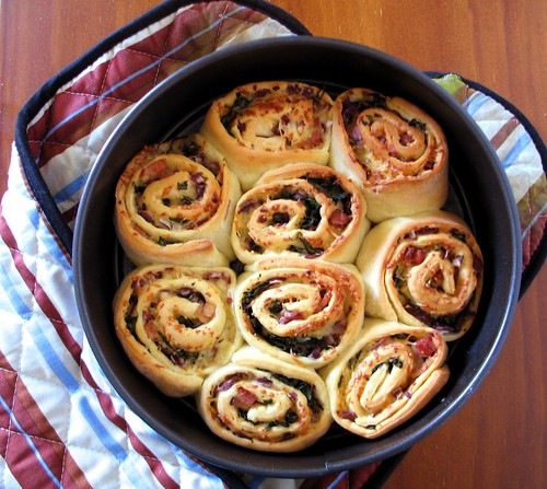 Savoury scrolls ready to eat