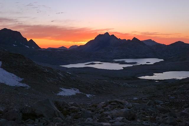 Sunset view on Wanda Lake
