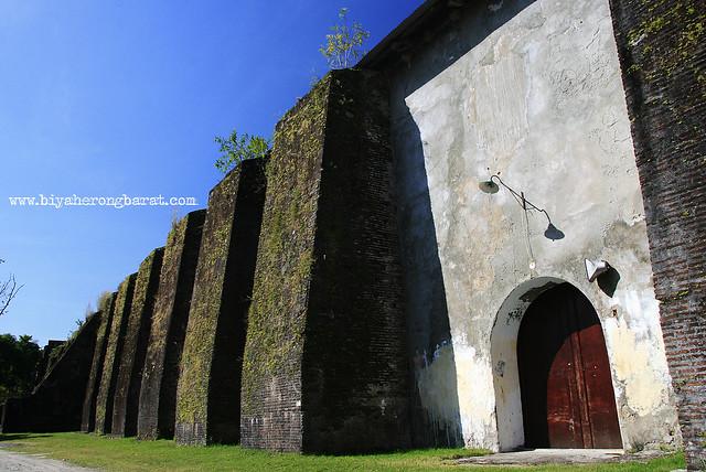 Massive church walls of Santa Maria Church Ilocos Sur