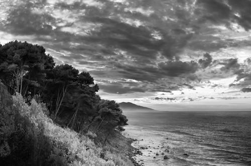 Black and white seascape Algeria by albatros11