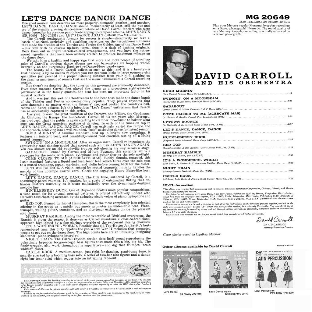 David Carroll – Let's Dance, Dance, Dance