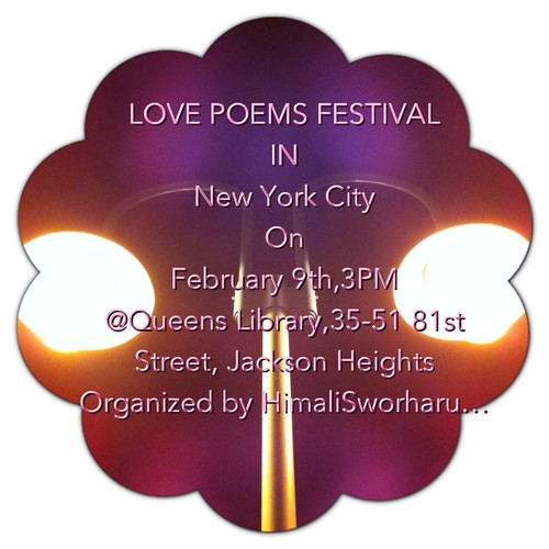 Poster:Love Poems Festival in New York City Feb 9th,2013 by Sahadevision