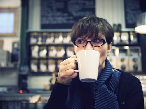 Coffee with mother by Fitzrovia