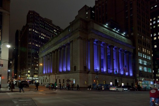 New York City : The Haier Building at night
