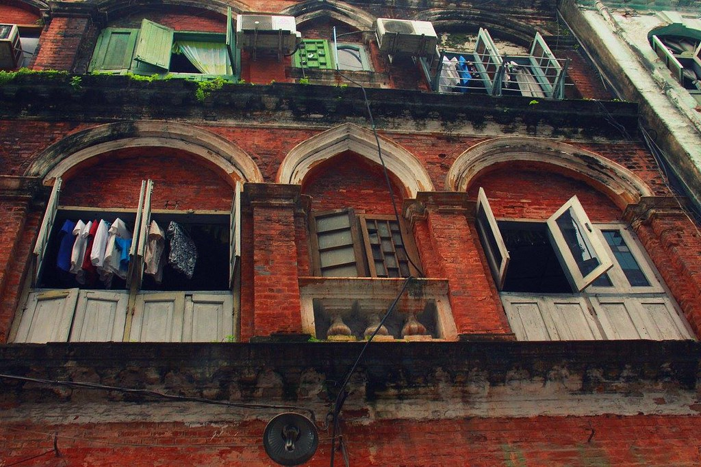 Downtown Yangon buildings look straight out of colonial era
