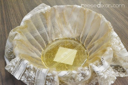 Lace Doily Bowl Tutorial Step 2