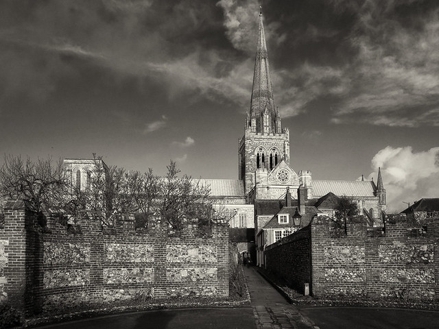 Chichester Cathedral from Canon Lane