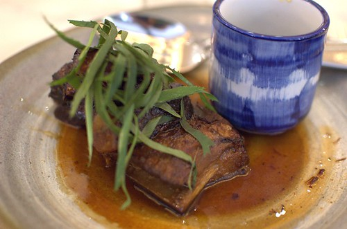 Twice-cooked Hopkins River beef short rib with coriander & Prik Nahm Pla