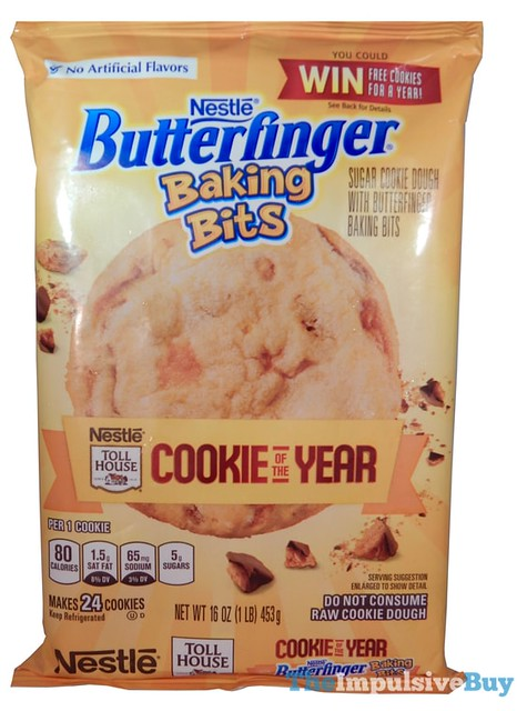 Nestle Toll House Cookie of the Year Butterfinger Baking Bits Cookies