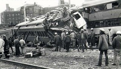 ICG EMU Passenger Train Wreck 27th St Station Chicago IL 10 30 72 JEH Coll