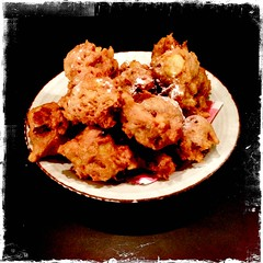 Homemade oliebollen on New Year's Eve