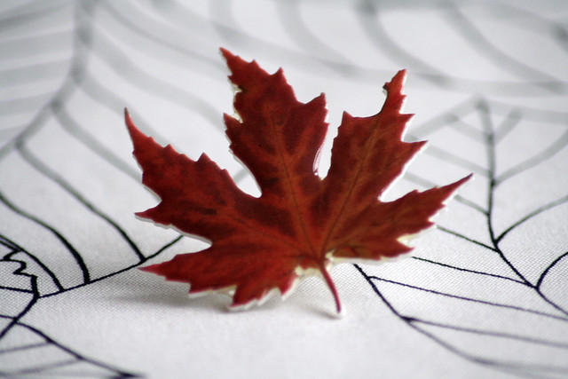 Handmade Maple Leaf Brooch