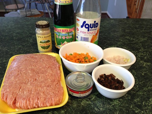 Ingredients for Banh Pate So/Chaud Pate - Savory, Flaky Meat Pies
