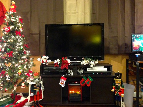 The Stockings Were Hung By The...er....Space Heater with Flame Simulator with Care