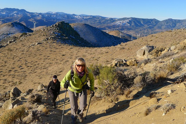 Heading up Butterbredt Peak