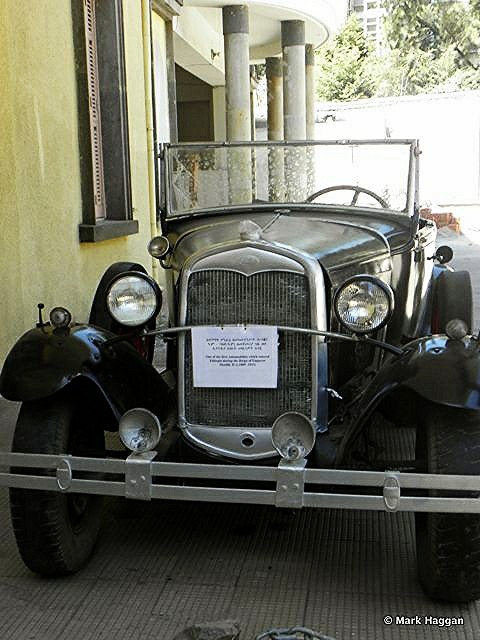Ethiopia's first car, as bought by Haile Selassie, and on display at the Ethnographic Museum