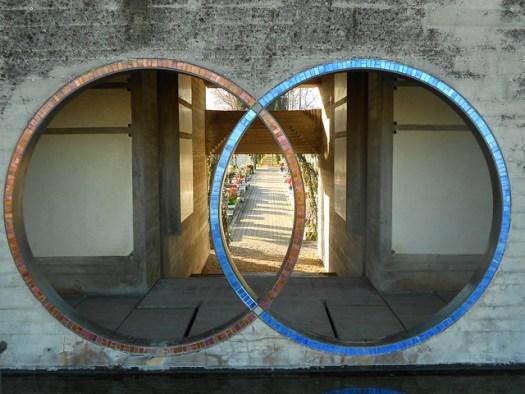 i due anelli intrecciati - tomba Brion - Carlo Scarpa