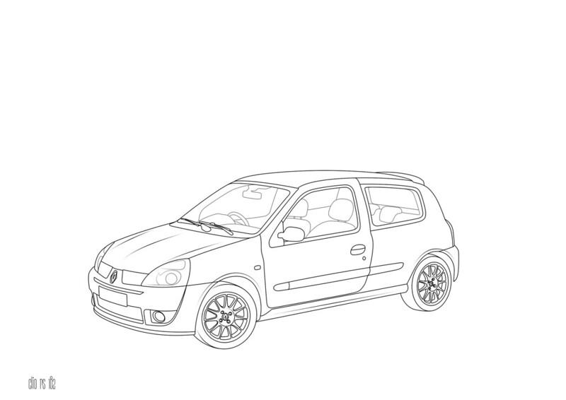 Renault Twingo Rs Coloring Page Free Printable Sketch