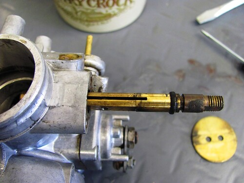 Pulling Throttle Shaft Out