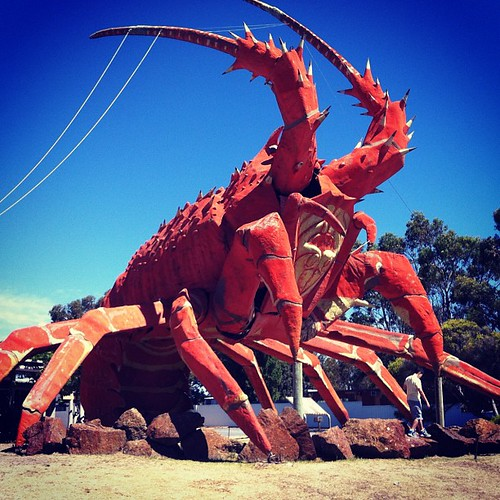 Obligatory photo of The Big Lobster.