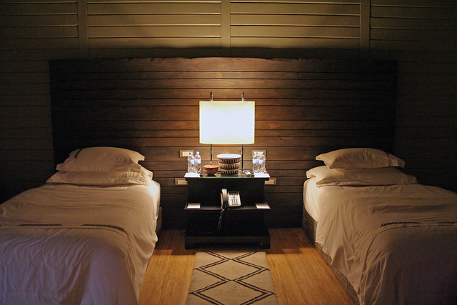 twin beds at Nyungwe Forest Lodge