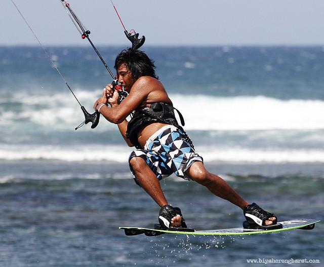 Kite surfing boarding in Kingfisher Ilocos Norte Pagudpud