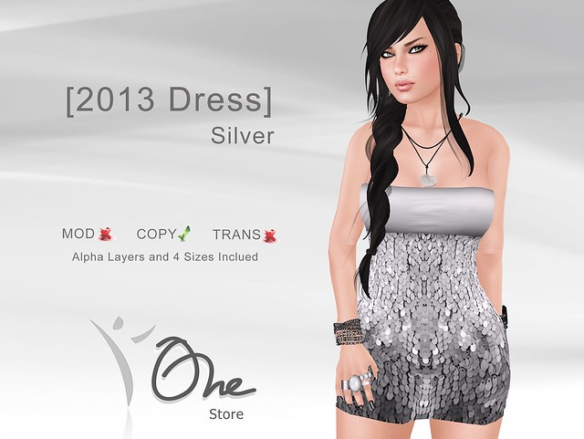 [2013 Dress] Silver - New Years Gift Price!