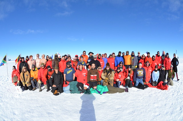 Amundsen-Scott South Pole Station Crew Holiday Photo 2012 - Antarctica