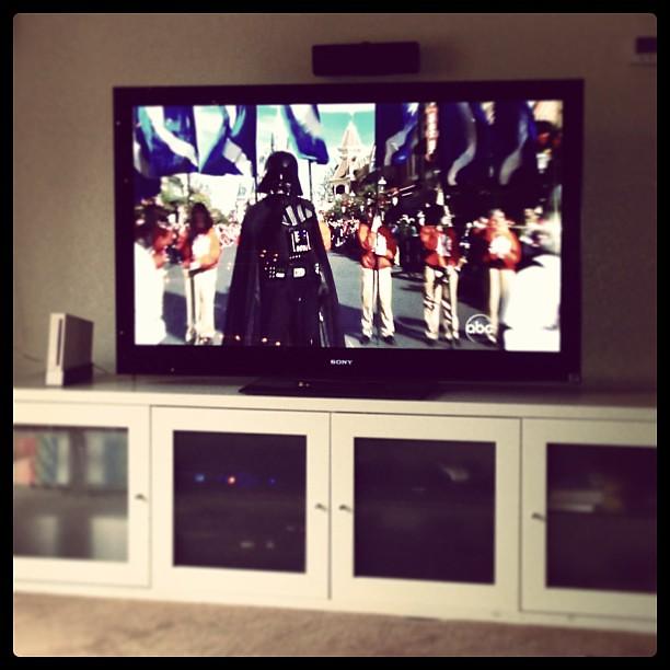 #DisneyParade featuring my homeboy Darth Vader!