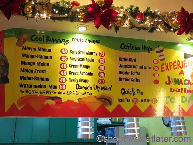 De Original Jamaican Pattie Shop menu