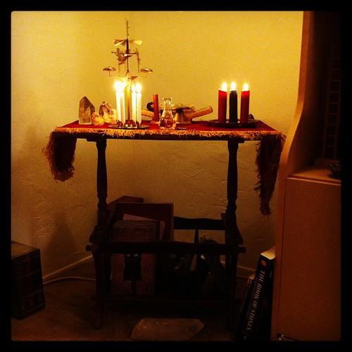 Yule altar.