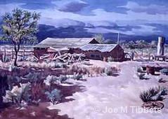 JMTibbets_watercolor_theforgottenfarmlascrucesnewmexico by JMTibbets