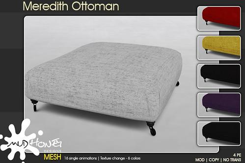 mudhoney meredith ottoman