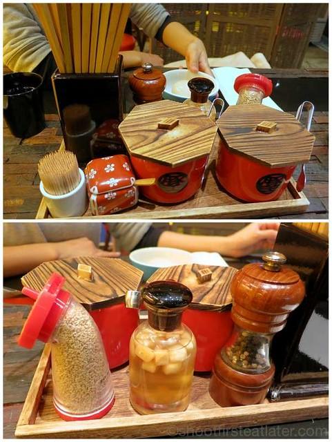 Butao Ramen, Tsim Sha Tsui- condiments
