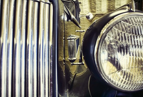"""Foxy"". Vintage Packard closeup photo. All rights reserved. Copyright 2011 Jen Baker/Liberty Images."