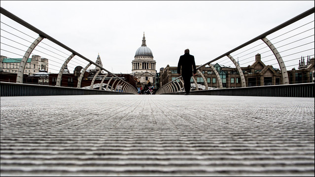 Millenium Bridge, Winter
