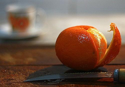 ....café e tangerina ..... by Elza Cohen