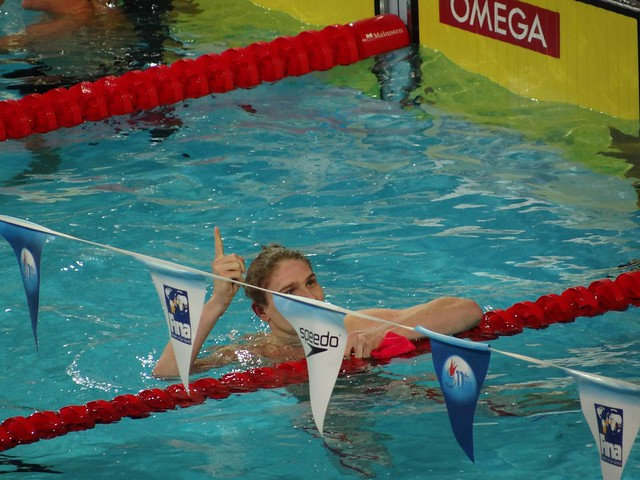 Kawecki after winning the Istanbul 2012 men's 200 back