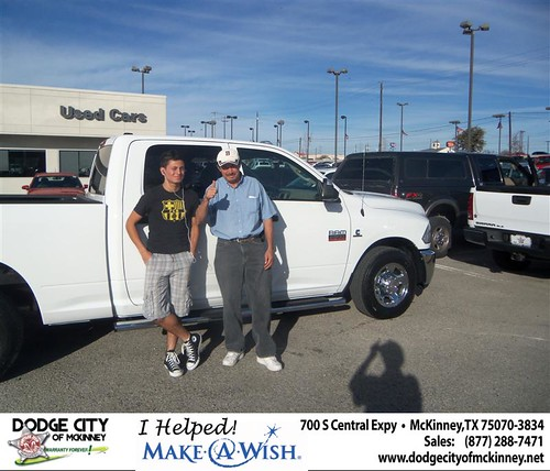 Congratulations to JUAN SERRANO on the 2012 DODGE 2500 by Dodge City McKinney Texas