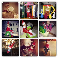 Elf on the shelf antics 2012 (2)
