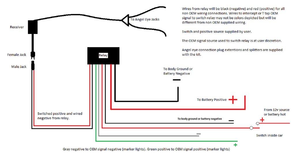 My Diode Dynamics As Supplied RGB Angel Eye Wiring Diagram