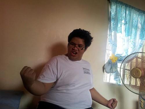 J as Bruce Lee