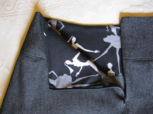 A-line skirt for Terri - facing