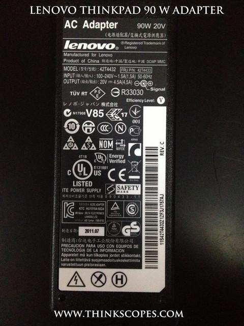 ThinkPad 90 Watts Power Adapter Information