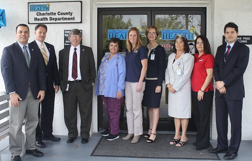 Englewood Clinic group photo with Charlotte County Commissioners.