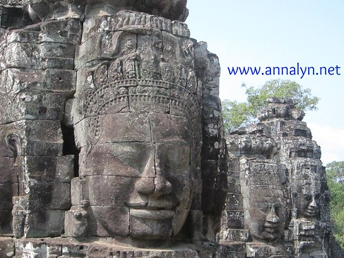 bayon temple - faces