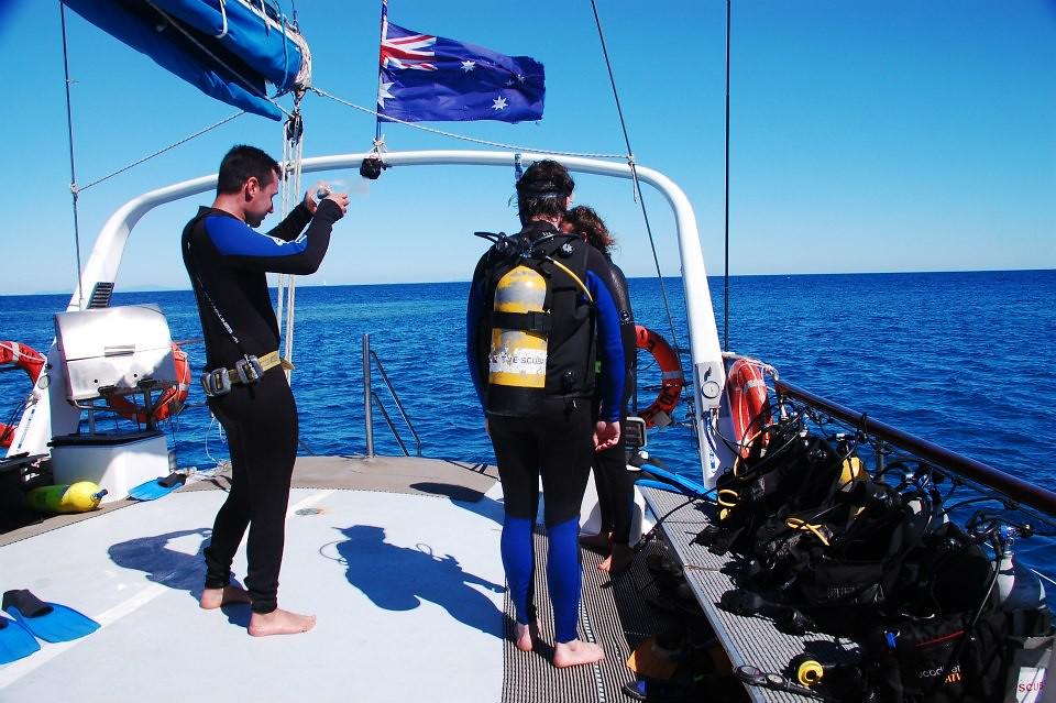 The dive deck