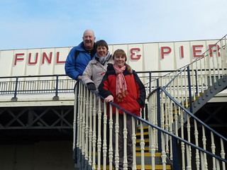 John, Carol and Sharon on Southport Pier
